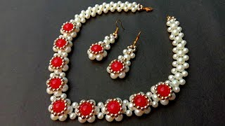 How To Make Pearl Necklace//Diy Bridal Necklace// Useful & Easy