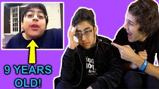 REACTING TO MY CRINGY CHILDHOOD VIDEOS! ft. David Dobrik