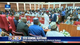 INEC Chairman, Others Attend NASS Public Hearing On Vote Buying Pt.2 10/12/18 |News@10|