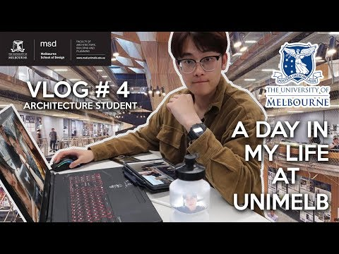 【vlog#4】A DAY IN MY LIFE AT UNIMELB AS AN ARCHITECTURE STUDENT【墨尔本大学建筑设计系的一天】