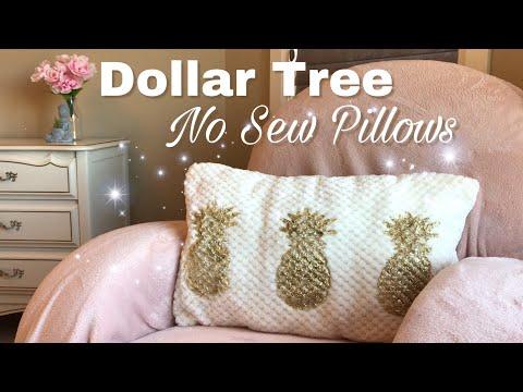 Dollar Tree DIY NO SEW Pillows |How to make no sew pillows
