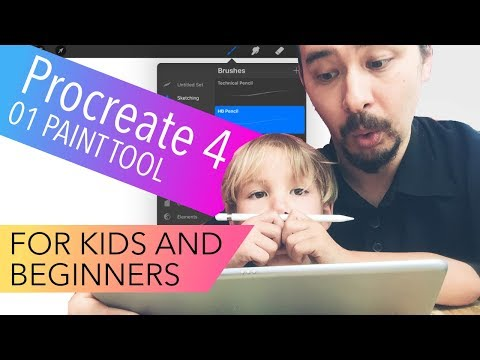 Procreate 4 Tutorials for Beginners and Kids – 01 Paint Tool (1st Tutorials)
