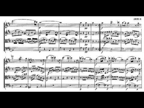 W.A. Mozart: Flute Quartet in D major, K.285 (Score video)