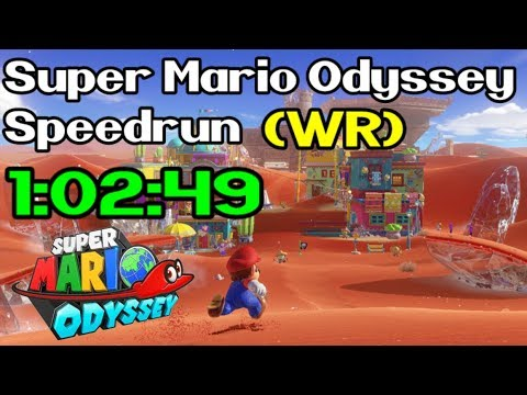 Super Mario Odyssey Any% Speedrun in 1:02:49 (World Record - April 20th / 2018)