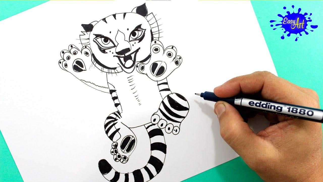 How To Draw Tigress (kung Fu Panda 3) / Como Dibujar A