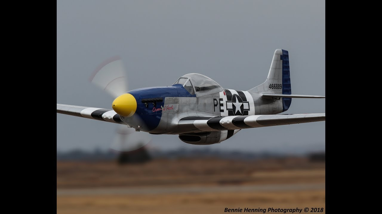 1/4 scale P51 with DLA 116 Inline Twin flown by Neville Wright (1080HD)