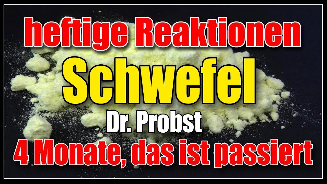 Vorsicht Anorganischer Schwefel Nach Dr Probst Erfahrungen Nach 4