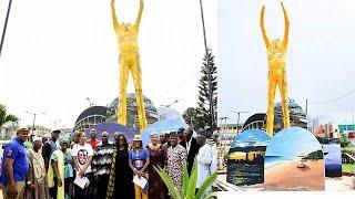 Fela Kuti statue unveiled in Lagos to honour the Nigerian music legend