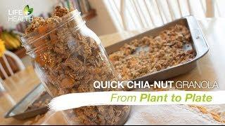 Quick Chia-nut Granola