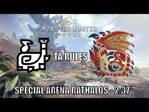 "Monster Hunter World - Rathalos Special Arena - Hunting Horn - 2:37"" - TA Rules thumbnail"