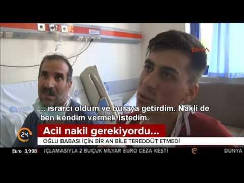 23 yaşındaki Dağıstan Dağyar babasına tereddüt bile etmeden karaciğerini verdi