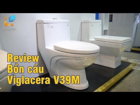 Video Bồn cầu 1 khối Viglacera V39M