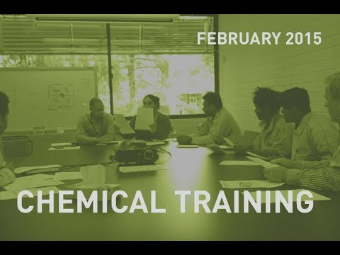 Chemical training for CMC cleaning staff
