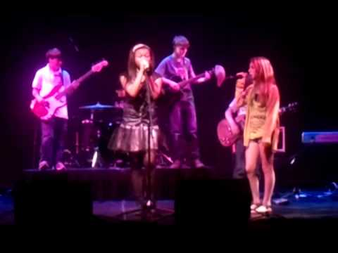 Chayla Trepagnier  and her band stick foo singing Revolution by The Beatles