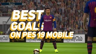 Best goals on pes 19 mobile ||captain boomerang || pes 19