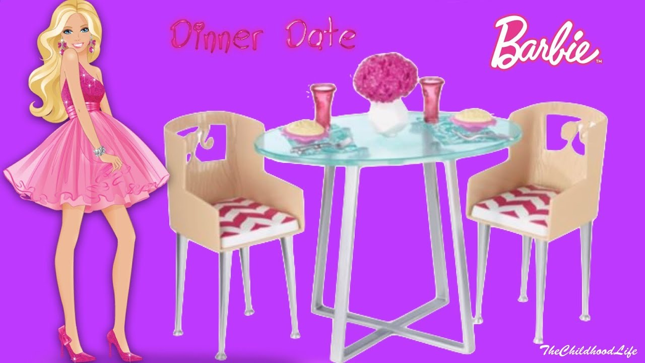 Barbie Life in the Dreamhouse Furniture Set Barbie and Ken Dinner ...