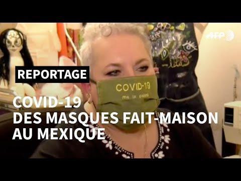 Des masques faits maison pour combattre le coronavirus au Mexique | AFP