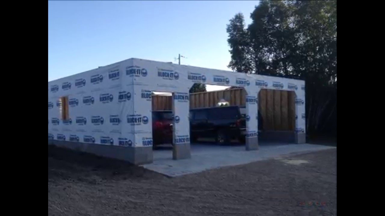 32 X 32 Garage Build Slide Show Youtube