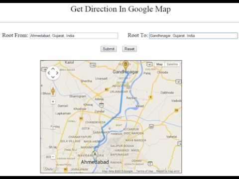 Get Directions Google Map API using JavaScript - YouTube