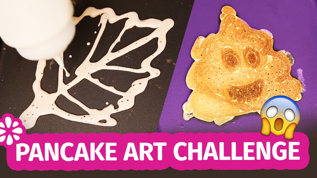 Pancake Art Challenge : Pancake Art Challenge! Sea Lemon - YouTube