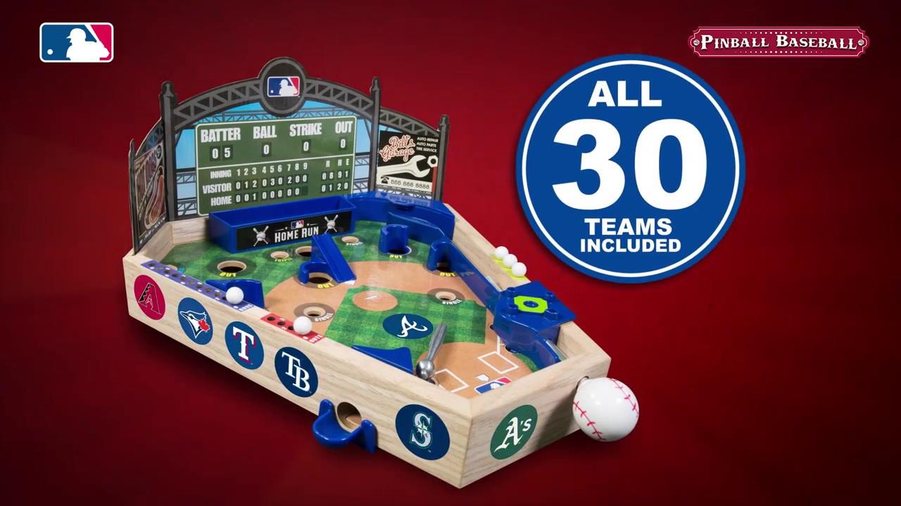 Mlb Wooden Pinball Baseball Mlb803 Introduction 60 Seconds English