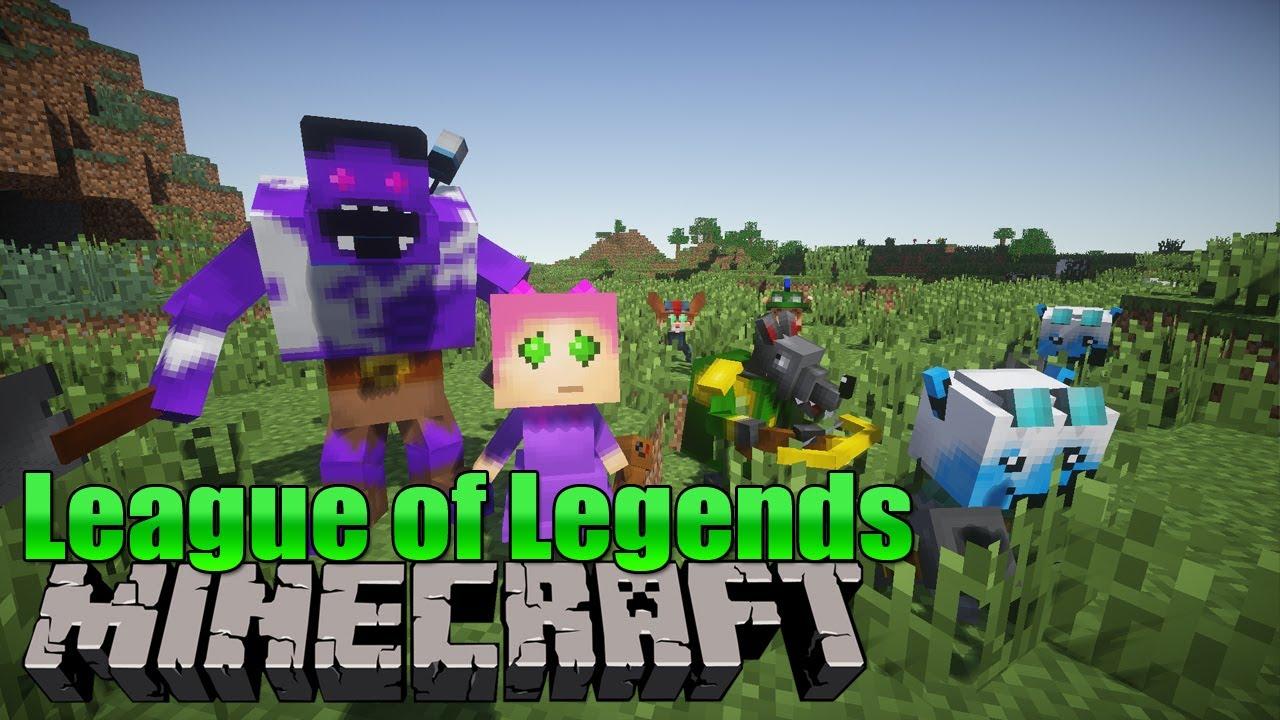 League Of Legends In Minecraft Minecraft Mod YouTube - Minecraft spielerkopfe erstellen