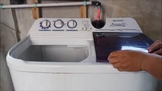 Cara Menggunakan Mesin Cuci Sharp Super Aquamagic Dua Tabung