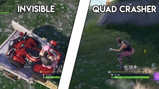 NEW INVISIBLE QUAD CRASHER GLITCH | FORTNITE BR Glitch