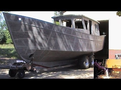 Selbstbau der 'Regusta C' in Breiholz (self-build boat) - VideoGustav