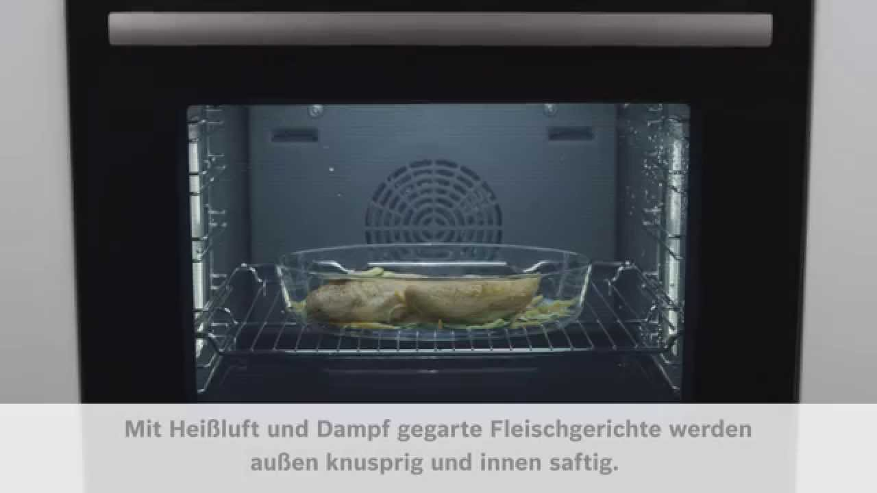 bosch sensor backofen serie 8 dampfbacken youtube. Black Bedroom Furniture Sets. Home Design Ideas