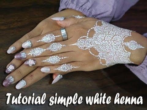 White Henna With Glitter Powder Easy Diy Henna 57 By Anie Mehndi