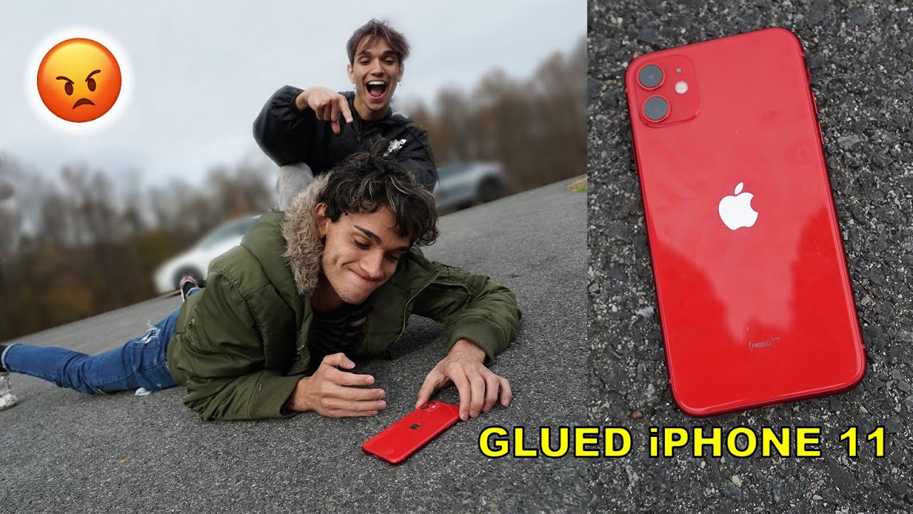 Photo of iPhone 11 Glued To The Floor PRANK On Twin Brother! – شركة ابل