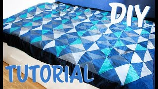 DIY Tutorial Patchworkdecke - Ganz einfach eine Patchworkdecke nähen auch für Anfänger