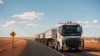volvo trucks 175 tonnes road train through the australian outback drivers world e08