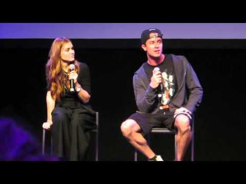 Best dance moves?  Holland Roden & Ryan Kelley @ Werewolfcon