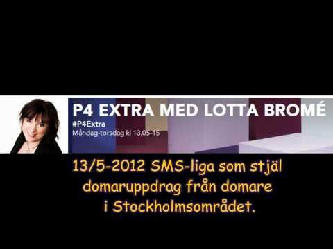 Sveriges Radio P4 Extra Lotta Bromé. SMS-liga stjäl domaruppdrag fotboll