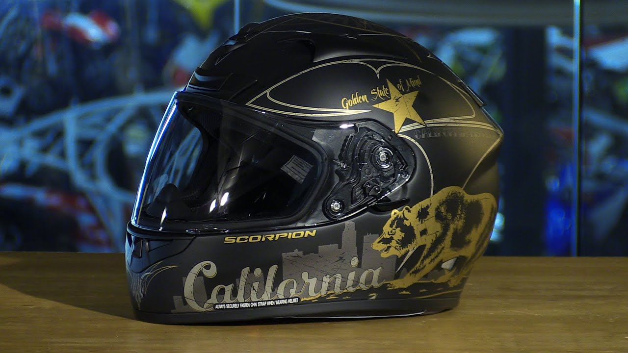 Scorpion EXO EXO R710 Full Face Motorcycle Helmet Golden State