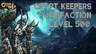 Pure faction team - Crypt Keepers level 500