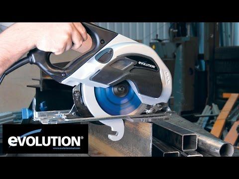 Ръчен циркуляр за рязане на стомана EVOSAW 180HD / EVOLUTION 031-0014A / видео