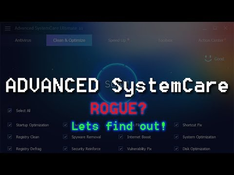 Is Advanced SystemCare a Rogue? | A-V Test #33