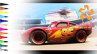 Cars 3 - How to draw and color Lightning McQueen. Rust-eze #95 - Coloring Pages | Color & Kids TV