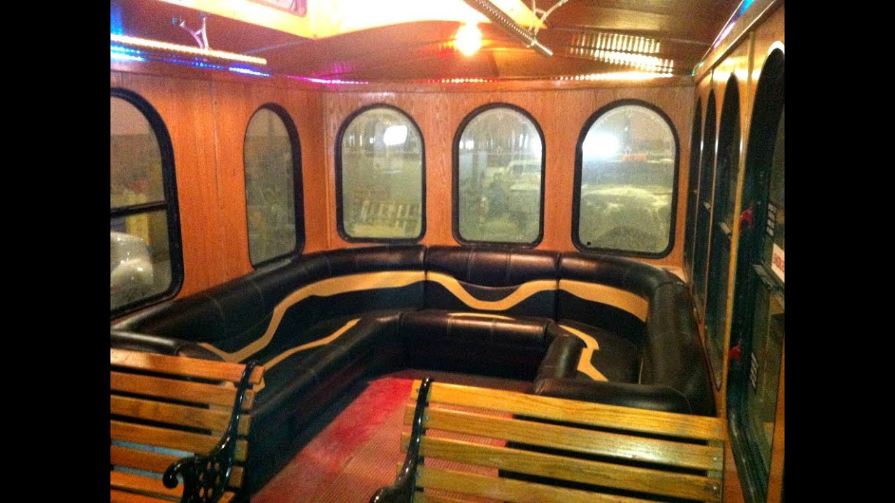 Party Bus Limo Seats And Furniture   Custom Built By Veada In The USA    YouTube