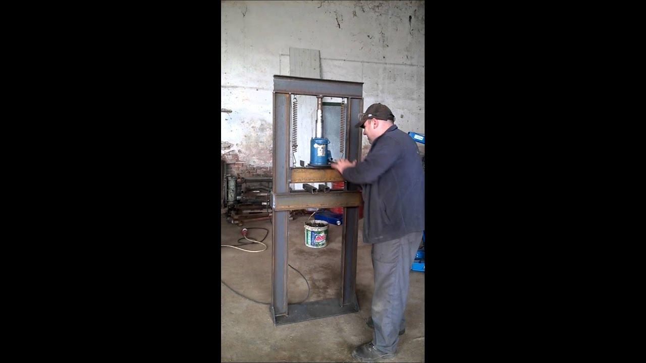 4 X 4 >> presa hidraulica - YouTube
