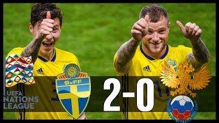Sverige 2-0 Ryssland | Sverige vinner Division B i Nations League
