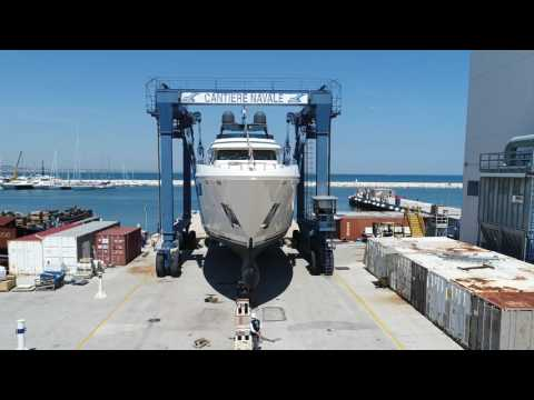 Luxury MegaYacht - The third Custom Line Navetta 37 was launched