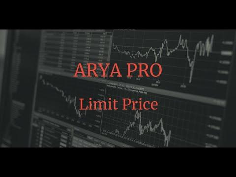 Avis ARYA Trading: fonction Price Limit 1