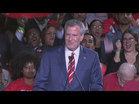 Mayor De Blasio Victory Speech