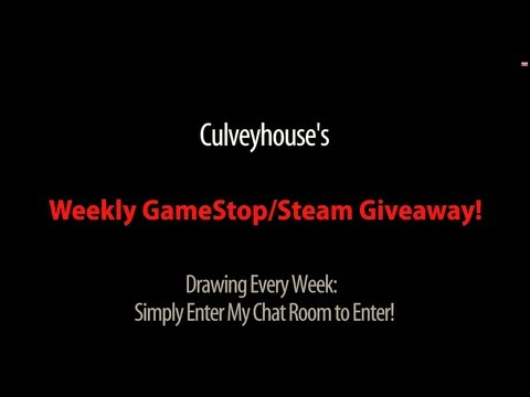 Culveyhouse's Weekly Game Giveaway! Join My Chat Room NOW To Win $22