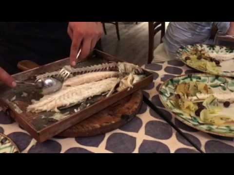 Deboning And Serving Seabass At Ristorante Miky - Monterosso