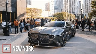 Bentley's EXP 100 GT ON THE MOVE! Chaos In New York